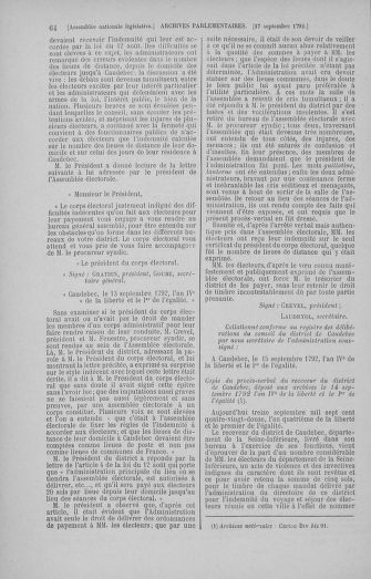 Tome 50 : Du 15 au 21 septembre 1792 - page 64