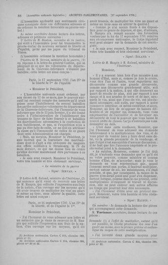 Tome 50 : Du 15 au 21 septembre 1792 - page 88