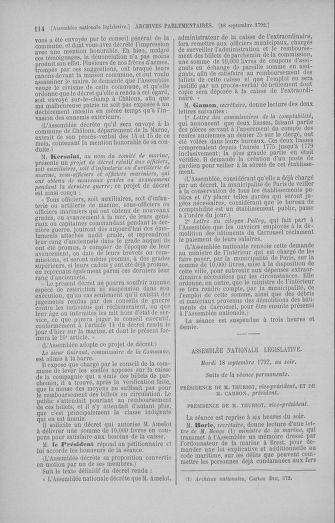 Tome 50 : Du 15 au 21 septembre 1792 - page 114