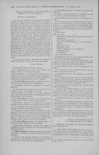 Tome 50 : Du 15 au 21 septembre 1792 - page 126