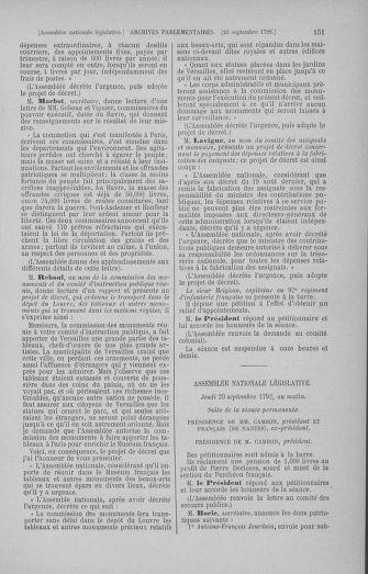 Tome 50 : Du 15 au 21 septembre 1792 - page 151