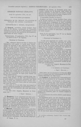 Tome 50 : Du 15 au 21 septembre 1792 - page 177