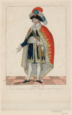 Barras membre du Directoire exécutif né à Foxemphoux dép.t du Var le 31 [i.e. 30] j.n 1755 [estampe]