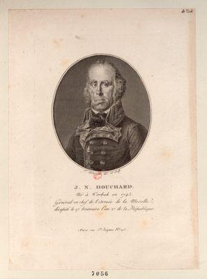 J.N. Houchard Né à Torbak [i.e. Forbach] en 1745 Général en chef de l'Armée de la Moselle ... : [estampe]