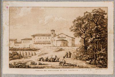Chiesa di S. Pancrazio, esterno e monastero