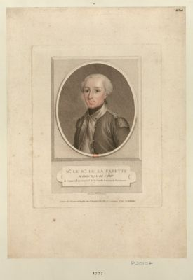 Mr le m.is de La Fayette maréchal de camp et commendant général de la Garde nationale parisienne : [estampe]