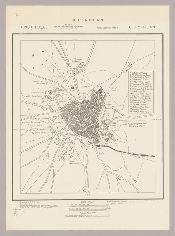Kairouan : city plan