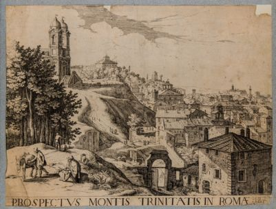 Piazza Trinità de Monti, veduta laterale