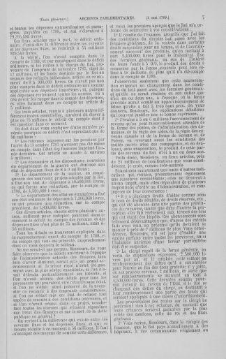 Tome 8 : Du 5 mai 1789 au 15 septembre 1789 - page 7