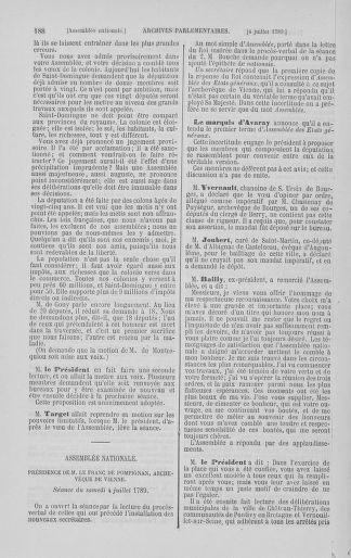 Tome 8 : Du 5 mai 1789 au 15 septembre 1789 - page 188