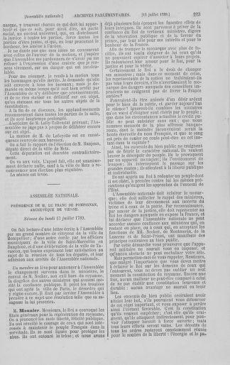 Tome 8 : Du 5 mai 1789 au 15 septembre 1789 - page 223