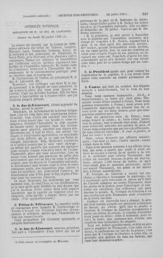 Tome 8 : Du 5 mai 1789 au 15 septembre 1789 - page 249