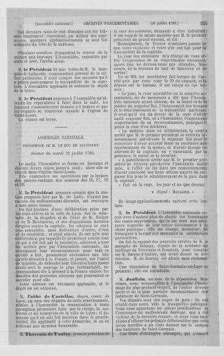 Tome 8 : Du 5 mai 1789 au 15 septembre 1789 - page 255