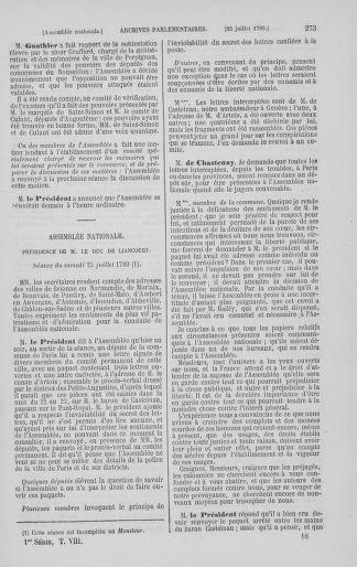 Tome 8 : Du 5 mai 1789 au 15 septembre 1789 - page 273