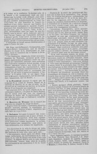 Tome 8 : Du 5 mai 1789 au 15 septembre 1789 - page 275