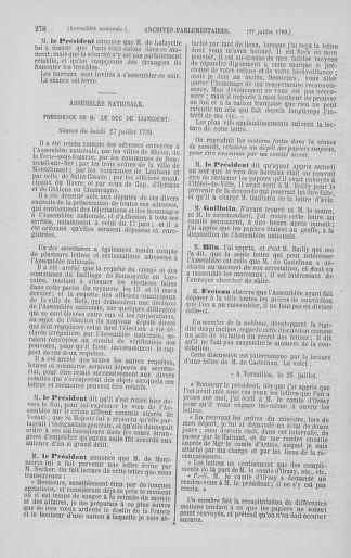 Tome 8 : Du 5 mai 1789 au 15 septembre 1789 - page 278