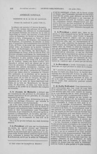 Tome 8 : Du 5 mai 1789 au 15 septembre 1789 - page 308