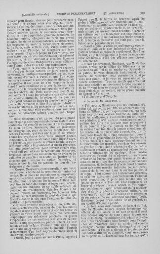 Tome 8 : Du 5 mai 1789 au 15 septembre 1789 - page 309