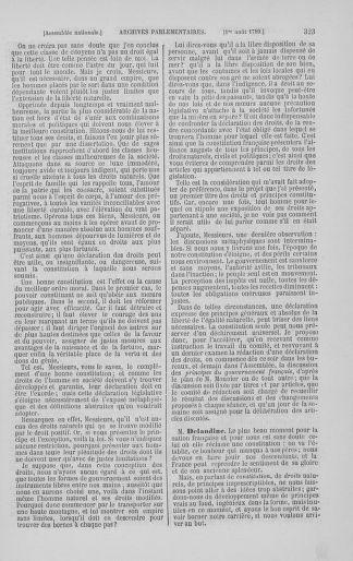 Tome 8 : Du 5 mai 1789 au 15 septembre 1789 - page 323