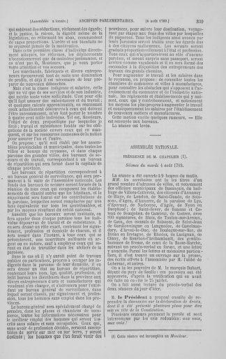 Tome 8 : Du 5 mai 1789 au 15 septembre 1789 - page 339