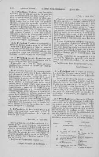 Tome 8 : Du 5 mai 1789 au 15 septembre 1789 - page 342