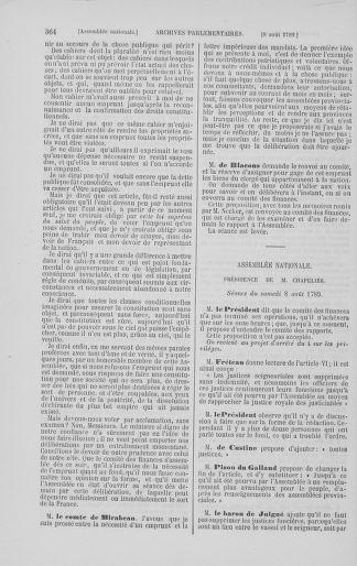 Tome 8 : Du 5 mai 1789 au 15 septembre 1789 - page 364