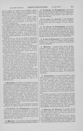 Tome 8 : Du 5 mai 1789 au 15 septembre 1789 - page 375