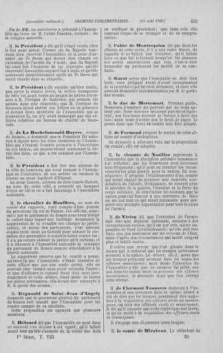 Tome 8 : Du 5 mai 1789 au 15 septembre 1789 - page 433