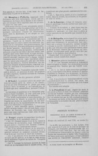 Tome 8 : Du 5 mai 1789 au 15 septembre 1789 - page 463