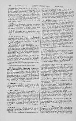 Tome 8 : Du 5 mai 1789 au 15 septembre 1789 - page 464