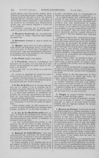 Tome 8 : Du 5 mai 1789 au 15 septembre 1789 - page 482