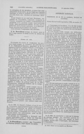 Tome 8 : Du 5 mai 1789 au 15 septembre 1789 - page 542