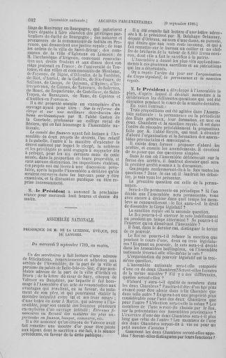 Tome 8 : Du 5 mai 1789 au 15 septembre 1789 - page 602