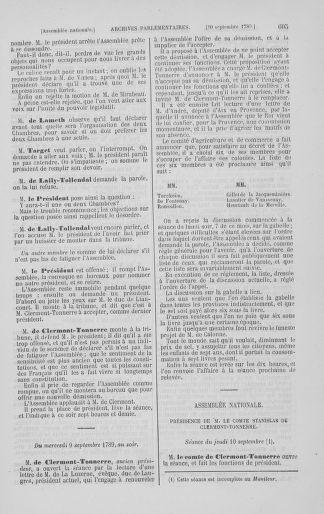 Tome 8 : Du 5 mai 1789 au 15 septembre 1789 - page 605
