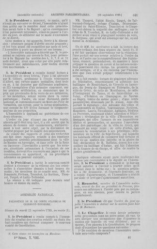 Tome 8 : Du 5 mai 1789 au 15 septembre 1789 - page 641