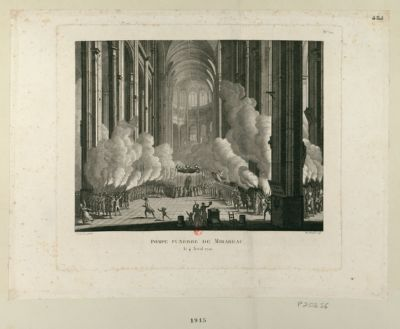 Pompe funèbre de Mirabeau le 4 avril 1791 : [estampe]
