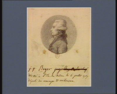 J.P. Roger né à l'Ile-en-Dodon le 6 juillet 1757 député du Cominges et Nébousan [dessin]