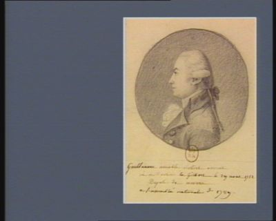 Guillaume Amable Robert né à Moulins en Gilbert le 29 aout 1752 député de Nevers à l'Assemblée nationale de 1789 : [dessin]