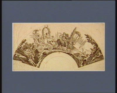 [Jean Jacques Rousseau sur un char triomphal entouré de symboles et allégories de la Nature] [estampe]