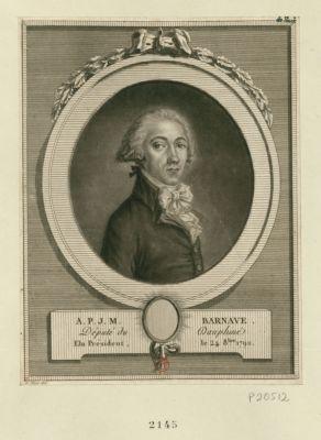 A.P.J.M. Barnave député du Dauphiné, élu président le 24 8.bre 1790 : [estampe]