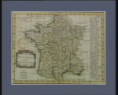 Carte de la <em>France</em> divisée par gouvernements [estampe]