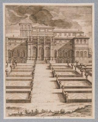 Palazzo Barberini, prospetto interno verso il giardino