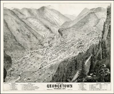 View of Georgetown, Colorado, 1874