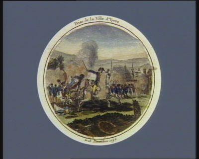 Prise de <em>la</em> ville d'Ypres le 13 décembre 1792 : [estampe]