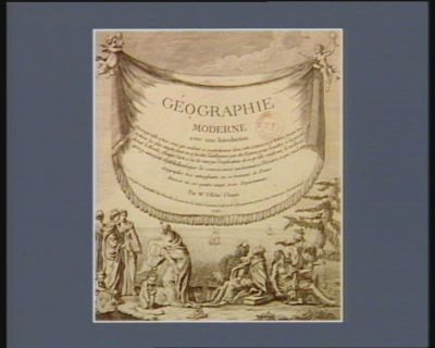 Frontispice de Geographie moderne avec une introduction... par Mr l'Abbé Clouet [estampe]