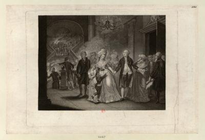 Die  Trennung Ludwigs des XVIten von seiner Familie im Tempel zufolge eines Schlusses des Gemeinde zu Paris an 29 September 1792 : [estampe]