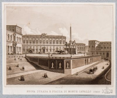 Piazza del Quirinale, sistemazione delle strade d'accesso