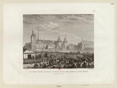 Les  Frères Agasse allant au supplice, leurs corps rendus à leur famille le 8 février 1790 : [estampe]