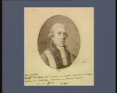 [Cha]rles pierre felix d'esclans ch.er de l'ordre de malte, capitaine de dragon[s] député du Bailliage d'amont en franche comtée né en 1763 : [dessin]