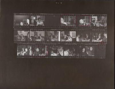 [Dinner party with Andy Warhol, Bianca Jagger, Truman Capote, Lorna Luft, Bob Colacello, Halston, Carolina Herrera]
